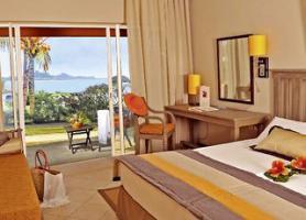 Jeden z pokojů v hotelu hotelu Preskil Beach Resort, Pointe Jerome