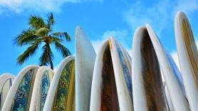 Mauritius a surfařská prkna