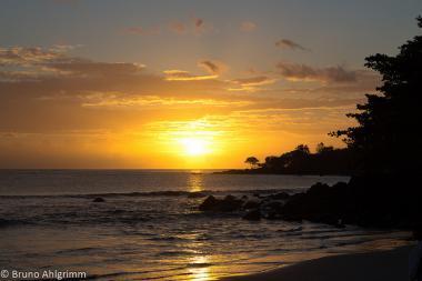 Západ slunce na Mauritiu